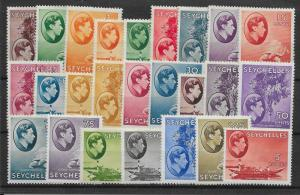 SEYCHELLES SG135/49 1938-49 DEFINITIVE SET MTD MINT (SL.HEAVY)