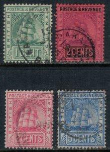 British Guiana #160-1,72,5  CV $8.70