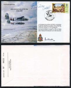 B34c Douglas Boston 40th Anniv of VE Day Signed by Sir John Grandy (D)