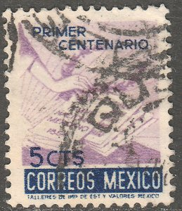 MEXICO 887, 5¢ Centenary of the National Anthem. Used. VF. (227)