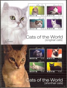 Nevis 2011 Cats 2 Sheets MNH