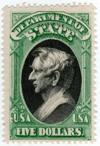 (I.B) US Postal Service : Department of State $5 (Senpf reprint)