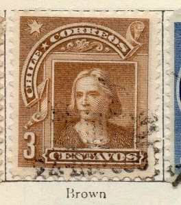 Chile 1905 Early Issue Fine Used 3c. NW-11423