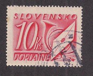 SLOVAKIA SC# J38   FVF/U