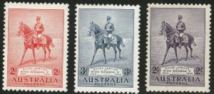 Australia Scott 152-154 MH* 1935 KGV  Jubilee set  CV$56.75