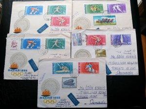 """Rare Hongrie 1968 """"Mexico Olympiques"""" Enregistrée 04 Postaly D'Occasion 1er"""
