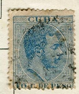 SPANISH CARIBBEAN;  1883 early classic Alfonso issue used 10c. value