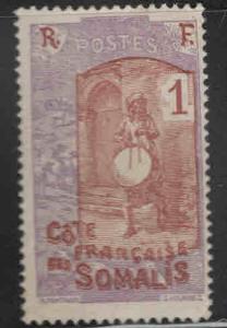 Somali Coast Scott 80 MH* Drummer stamp similar centering
