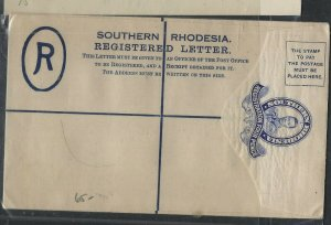 SOUTHERN RHODESIA  COVER  (P1002BB)  KGVI  4D    RLE UNUSED