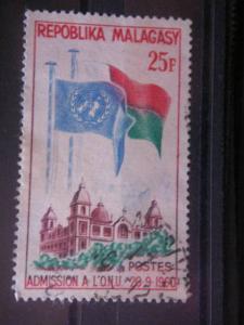MALAGASY, 1962, used 25f, Scott 326, Malagasy Republic's admission to the UN.