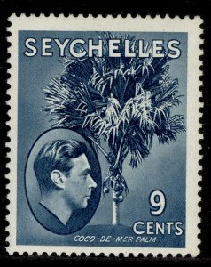 SEYCHELLES GVI SG138ac, 9c dull blue, M MINT. ORDINARY PAPER