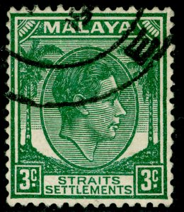 MALAYSIA - Straits Settlements SG295, 3c green, FINE USED.