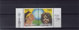 BRAZIL 1991 Sc# 2299a   Rock in Rio-Music Pair  MNH