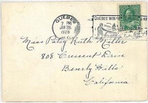 WINTER SPORTS - DOG SLEIGH : SPECIAL POSTMARK on COVER - CANADA 1928