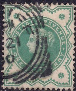 GB 1900 QV 1/2d Blue Green Colour Change SG 213 ( J1193 )