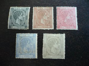 Stamps - Cuba - Scott# 82-86 - Mint Hinged Partial Set of 5 Stamps
