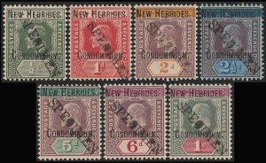 NEW HEBRIDES 1908 KEVII set SPECIMEN UNIQUE Bechuanaland Archive w/ Certificate.