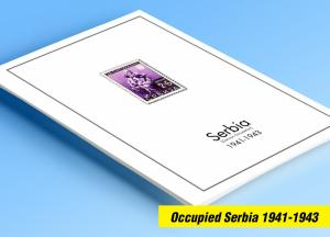 COLOR PRINTED OCCUPIED SERBIA 1941-1943 STAMP ALBUM PAGES (15 illustrated pages)