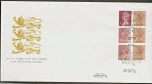 20/10/1986 50p POND LIFE BOOKLET 3, FDC