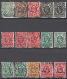 COLLECTION LOT OF # 1651 EAST AFRICA & UGANDA 15 STAMPS 1904+ CLEARANCE