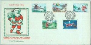 84735 - CHRISTMAS Islands  - Postal History -   FDC COVER 1986  Santa GOLF