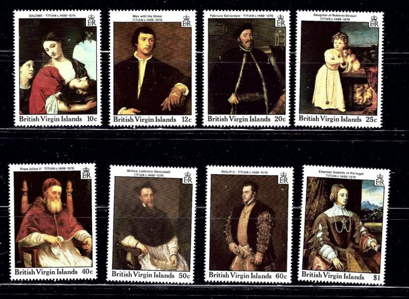 Virgin Is 595 602 MNH 1988 Titian Paintings