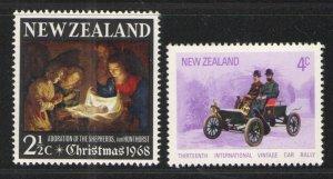New Zealand 1968 & 72 Sc# 414 & 492 MNH VG/F