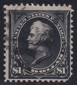 US STAMP #261 1894 $1 Perry Type I used stamp