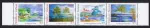 Wallis and Futuna Kingfisher Birds Landscapes full strip of 4v SG#807-810 SC#559