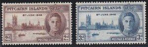 Pitcairn Islands 9-10 MNH (1946)