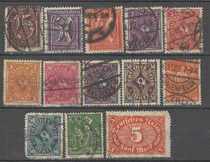 COLLECTION LOT # 4299 GERMANY 13 STAMPS WMK 126 1921+ CV+$27