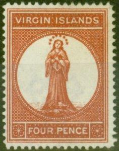 Virgin Islands 1887 4d Brown Red SG37 Fine Lightly Mtd Mint