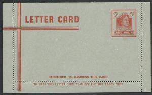 AUSTRALIA QE 5d lettercard fine unused.....................................12466