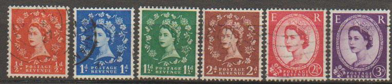 Great Britain SG 570 571 572 573 574 575 low value group  Used