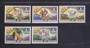 Lesotho 439-443 Set MNH Sports, Olympics