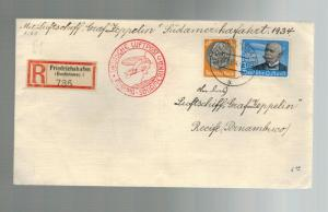 1934 Germany Graf Zeppelin Cover South America Flight to Brazil # C56  LZ 127