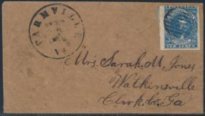 CSA #2b (HOYER & LUDWIG) ON COVER ARMY FIELD GRID CNL FARMVILLE, VA BS6528