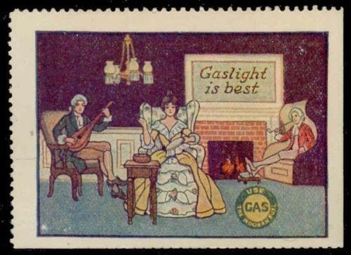 GASLIGHT IS BEST Advertising Poster Stamp