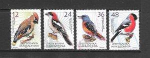 BIRDS - MACEDONIA #312-15 MNH