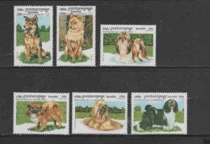 CAMBODIA #1804-1809 1999 DOGS MINT VF NH O.G aa