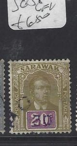 SARAWAK  (P2911B)  BROOKE  20C  SG 58  VFU