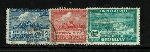Uruguay SC# C84 - C86 Used - S11980