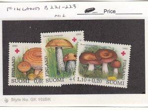 J25761  jlstamps 1980 finland set mnh #b221-3 mushrooms all checked