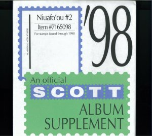 1997-1999 Niuafo'ou Scott Stamp Album Supplement Pages