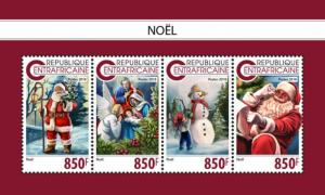 Stamps CENTRAL AFRICAN REPUBLIC. 2018 - Christmas stamps.