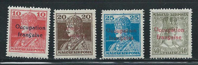 Hungary 1N22-5 French Occupation set MLH