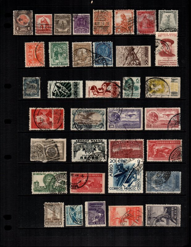 Mexico  36 diff Used and mint  hinged