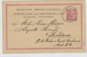 German Postal History Stamps Postcard Ref: R4915