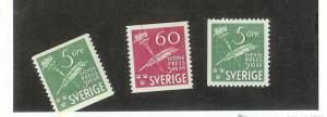 SWEDEN Sc#360-362 Complete Set Mint Never Hinged
