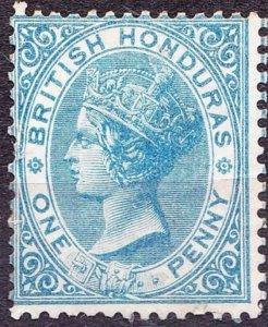 BRITISH HONDURAS 1884 QV 1d Blue SG17 MH